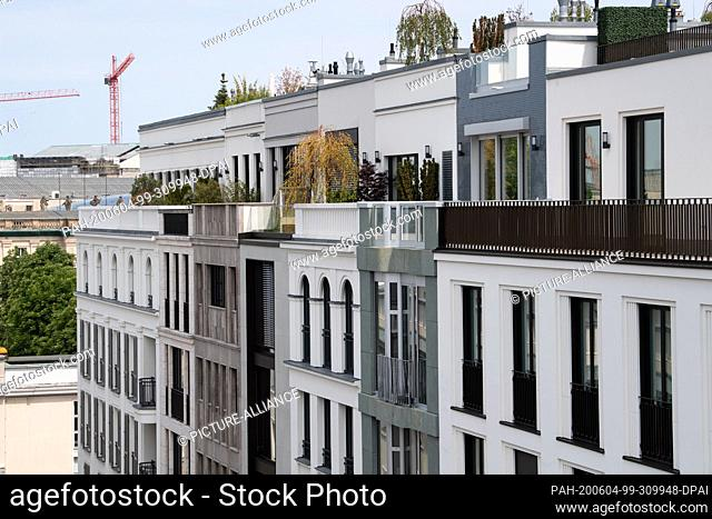 04 June 2020, Berlin: According to the developer, almost all luxury apartments, penthouses and townhouses of the new Kronprinzengärten development project next...