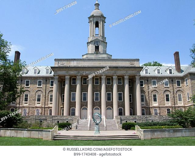 Old Main Building University Of Penn Campus State College Pennsylvania USA