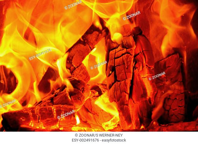 Fireplace wood stove fire