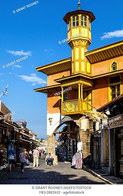 Mehmet Aga Mosque, Rhodes Old Town, Rhodes, Greece
