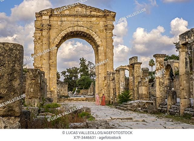Triumphal arc, in Al-Bass archaeological site, Tyre (Sour), Lebanon