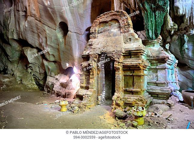 Pre-Angkorian prasat in Phnom Chhngok cave, Kampot province, Cambodia
