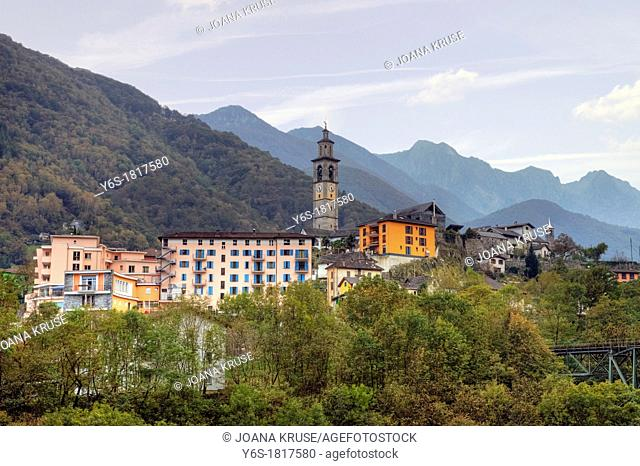 Intragna has the highest with 65 75 m steeple of Ticino, Switzerland