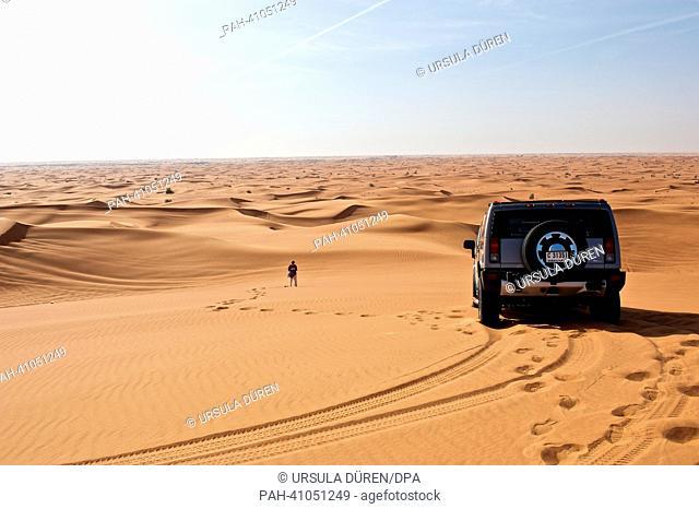 The desert of Dubai, United Arab Emirates, 19 March 2013. Photo: URSUAL DUEREN | usage worldwide. - Dubai/United Arab Emirates