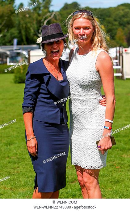 Davina McCall and Jodie Kidd judge the 'Best Dressed Lady' at The Longines Royal International Horse Show at Hickstead Featuring: Davina McCall