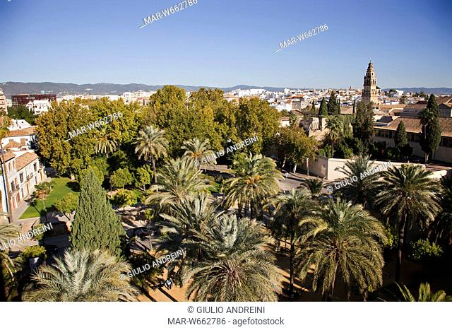View from the Alcazar de los Reyes Cristianos, Cordoba, Andalucia, Spain
