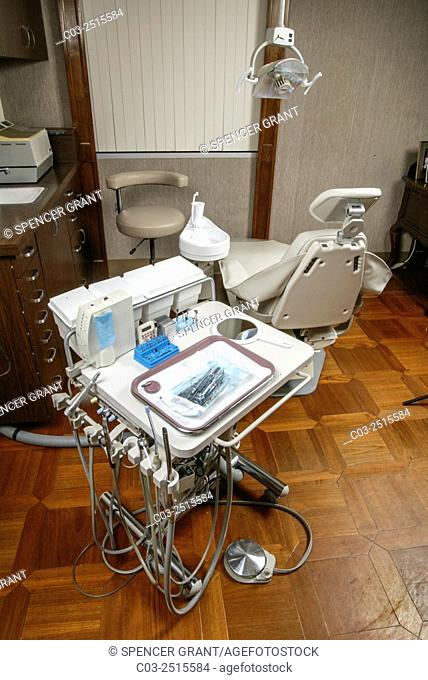 A dental cart includes an aspirator, saliva ejector, air/water syringe high and slow speed hand pieces and anesthetic injector