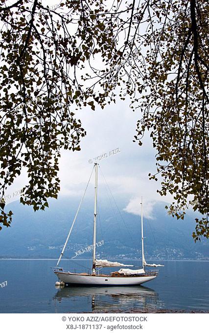 Switzerland, Canton Ticino, Locarno, Maggiore lake