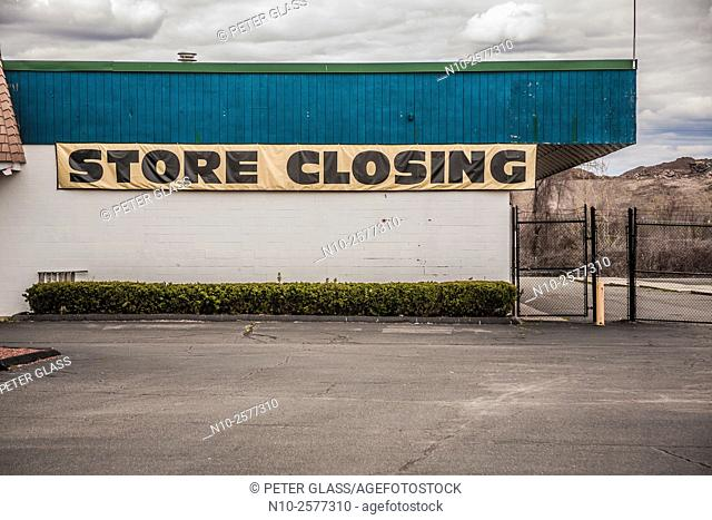 """Sign on a store reading """"""""Store Closing"""""""""""