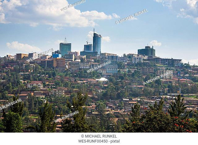 Rwanda, view to Kigali with skyscrapers
