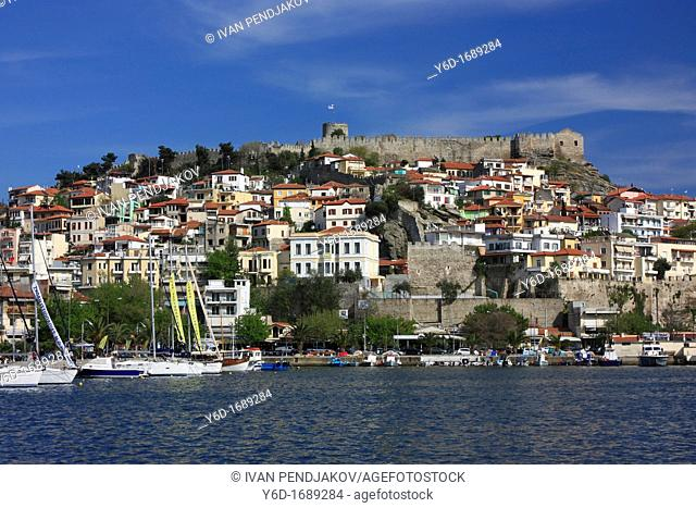 View of Old Town and Castle, Kavala, Greece