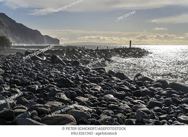 Funchal Breakwater Lighthouse, Madeira, Portugal, Europe
