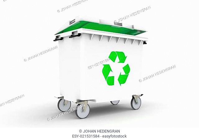 Recycle Bin with green light
