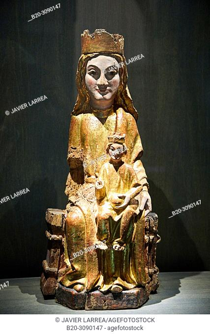 Virgen with Child, 12th century, Diocesan Museum, Museo Diocesano, Jaca, Huesca province, Aragón, Spain, Europe