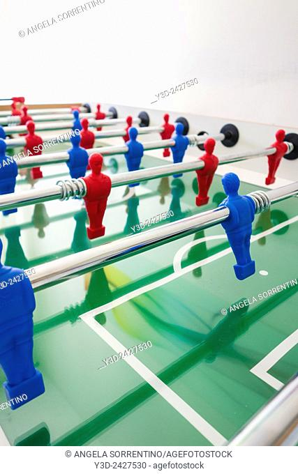 Table soccer with players