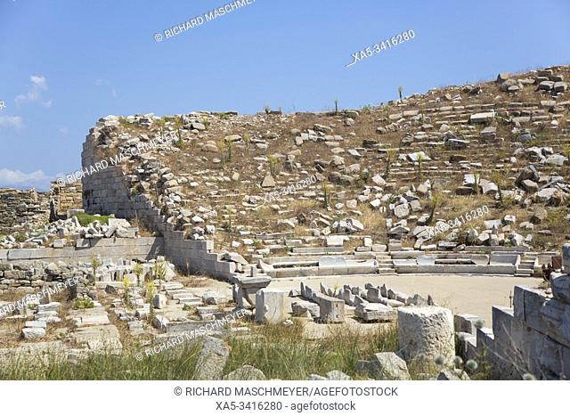 Theater, Delos Island, UNESCO World Heritage Site, Cyclades Group, Greece