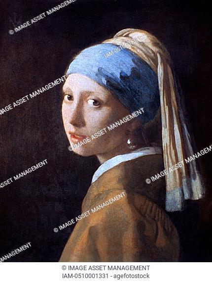 Johann van der Vermeer 1632-1675, Dutch artist, The Girl with the Pearl Earing 1665