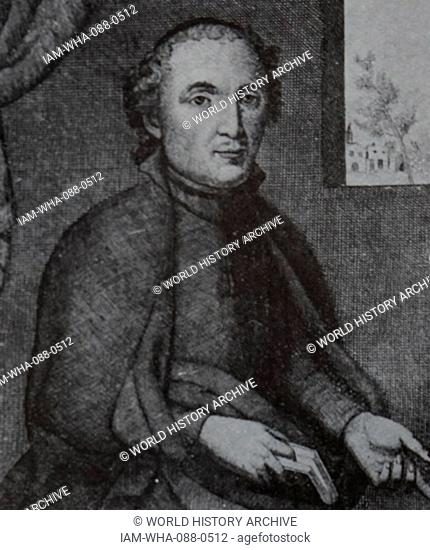Portrait of Francesc Vicent Garcia (1582-1623) a Catalan poet known by the pseudonym of the Vallfogona Rector. Dated 17th Century