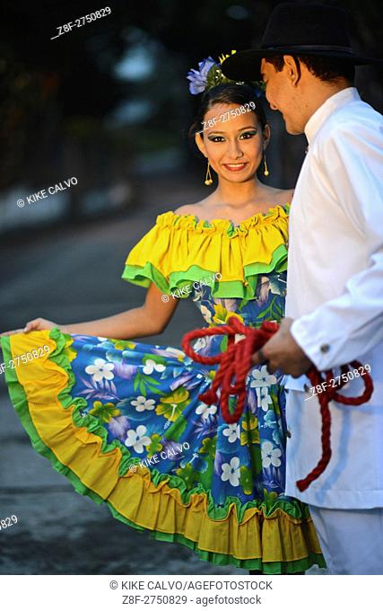 Traditional attire from the Colombian region of Los Llanos, bordering with Venezuela