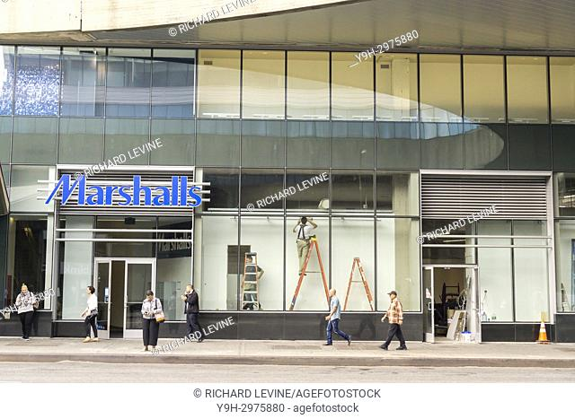 Marshalls off-price retailer in the newly renovated George Washington Bridge Bus Terminal in Washington Heights in New York on Monday, October 23, 2017