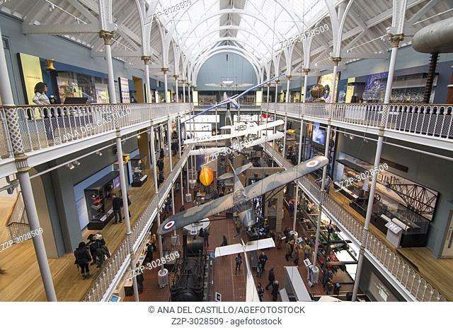 National Museum of Scotland interior in Edimburgh, Scotland, UK