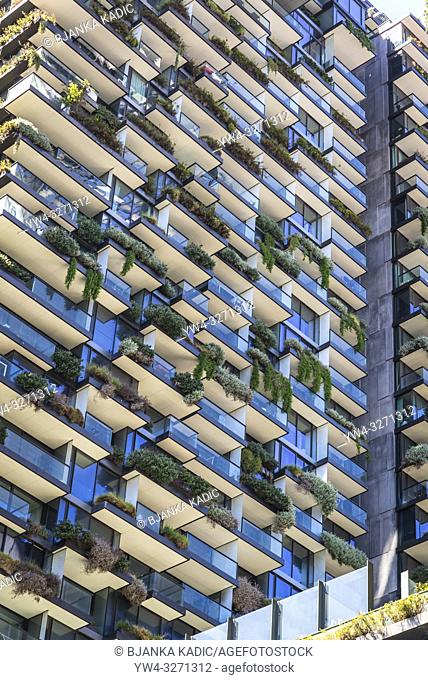 One Central Park, an apartment complex with a shopping centre called Central located on the lower levels located on Broadway in Chippendale
