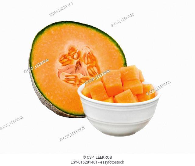 Sweet cantaloupe melon