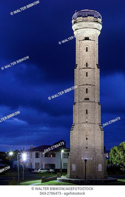 New Zealand, North Island, Wanganui, Durie Hill Tower, dusk