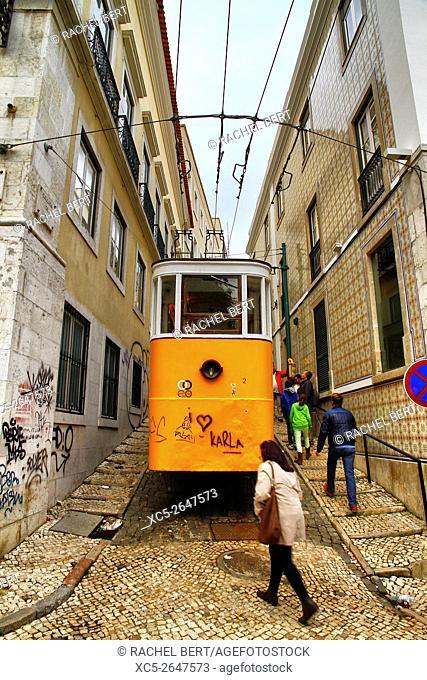The Lavra Funicular, Lisbon, Portugal, Europe