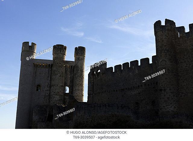 Silhouette Valencia de Don Juan Castle, León, Spain / Castillo de Valencia de Don Juan, León, España