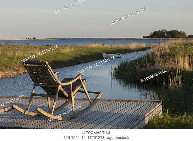 Rocking chair in Pädaste Manor complex, Muhu island