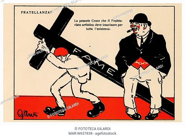 STORIA DEL MOVIMENTO OPERAIO 'Fratellanza! La pesante croce che il proletariato artistico deve portare per tutta la vita' (La Fame)