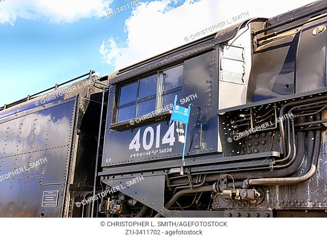 The 4014 Big Boy 1941 steam locomotive in Tucson on its 150th Transcontinental journey across America