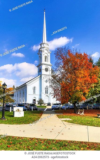 USA ,Massachusetts, Berkshire District, Lee City,Church