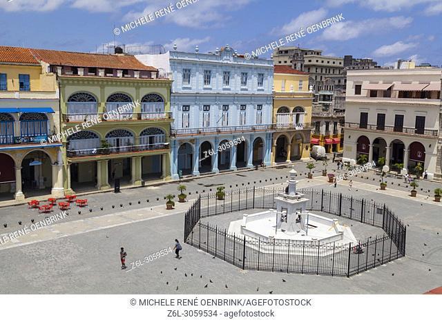 Plaza Vieja in Old Havana Cuba