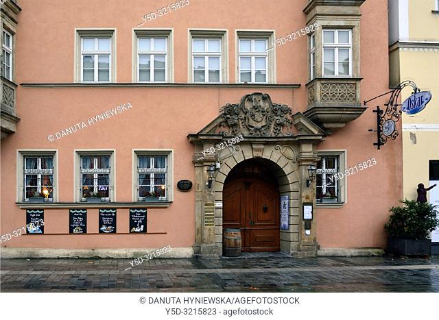 Maximilianstrasse 33, Altes Rathaus - Old Town Hall now Kunstmuseum - Art Museum, Maximilianstrasse - main touristic promenade in old town, Bayreuth