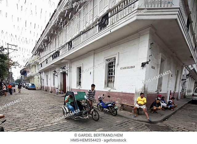 Philippines, Luzon island, Manila, Intramuros historic district, a colonial house