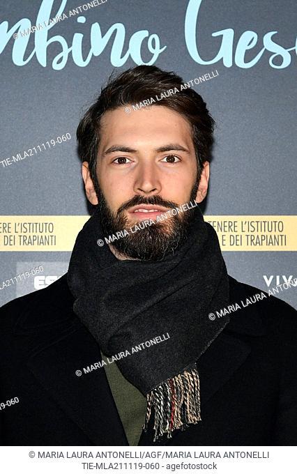 Giovanni Caccamo during the charity show ' Una serata di stelle' for the Hospital Bambino Gesu', Paul VI Hall, Vatican City, ITALY-20-11-2019
