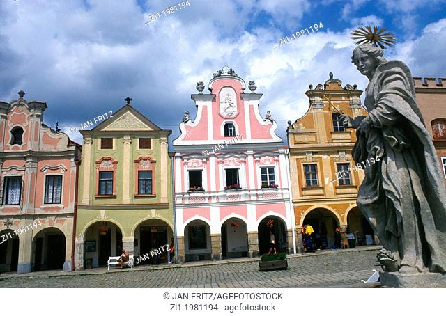 the historic centre of Telc in Czech