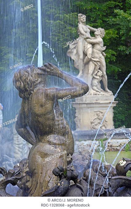 Bayreuth, Eremitage, Fountain, Upper Franconia, Franconia, Bavaria, Germany