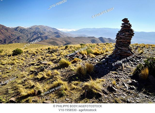 Argentina, Province of Ju Juy, Quebrada de Humahuaca on the world heritage list of UNESCO, Hornocal mountain