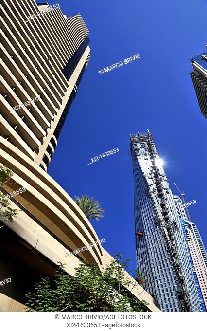 Skyscrapers at Dubai Marina  United Arab Emirates