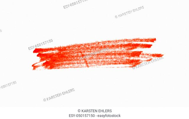 Dirty red hand drawn marker texture on white background