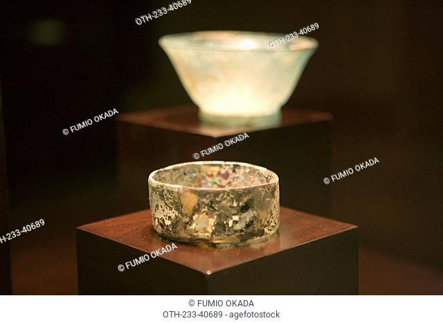 An exhibit of historical chinaware in Hong Kong Heritage, New Territories, Hong Kong