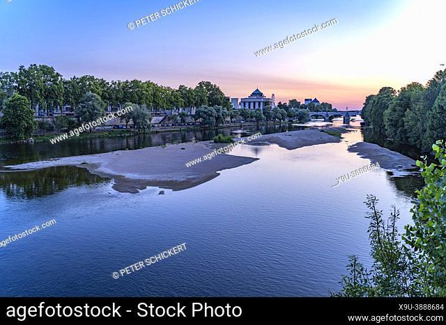 Loire river at dusk, Tours, Loire Valley, France