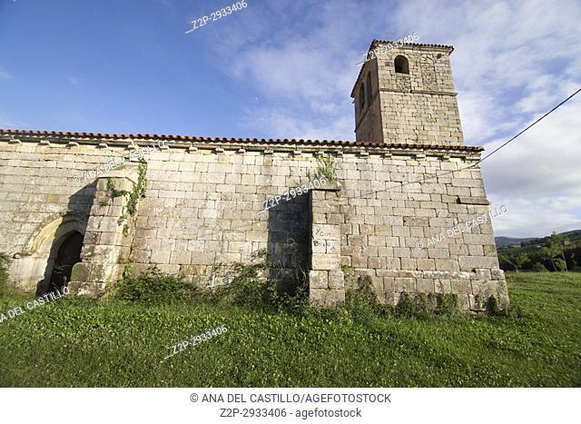 Lierganes village in Cantabria Pasiegos valley Spain St Pantaleon chapel