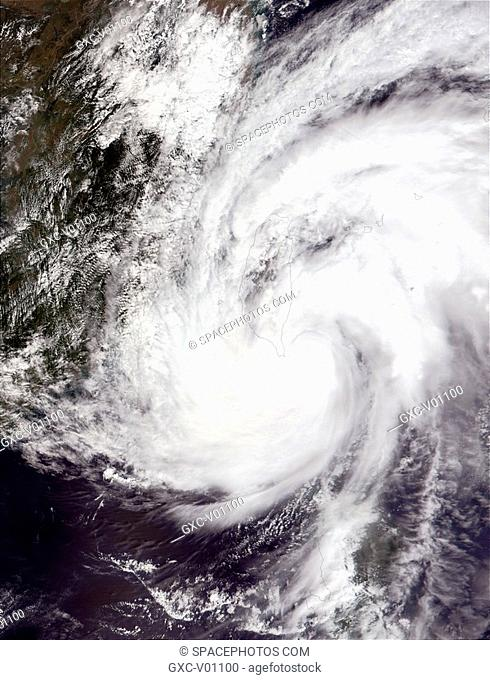 Typhoon Lekima smacked southern Taiwan today Sept. 26, 2001 with high winds and torrential rains. Luckily, no casualties or damages have been reported in the...