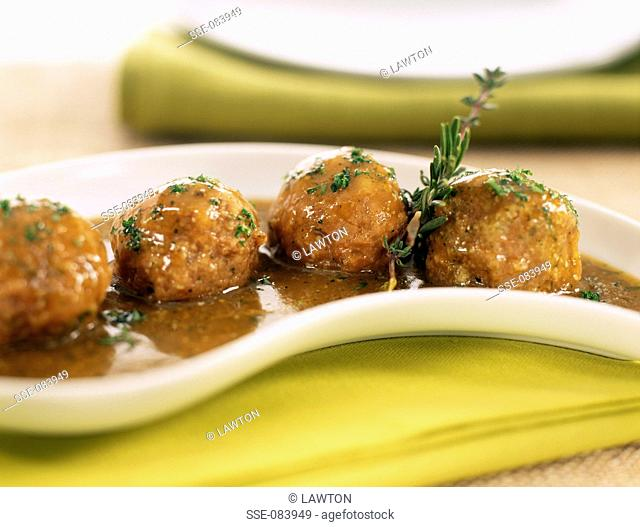 cod balls in rosemary sauce