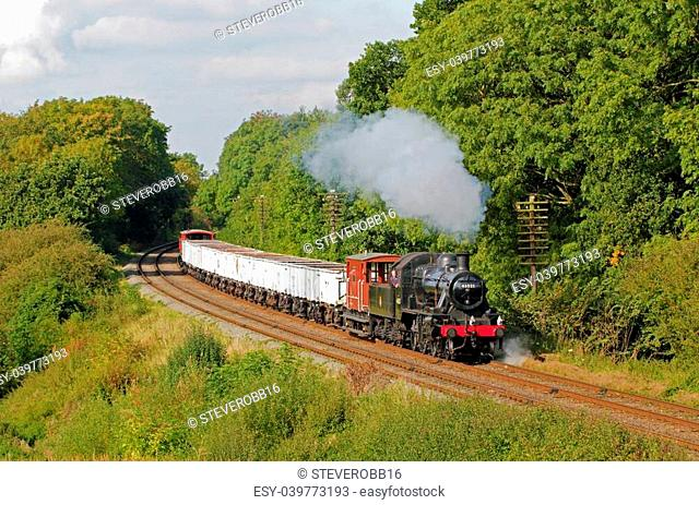 Steam Hauled coal train typical of those that regularly ran in the 1950s and 1960s