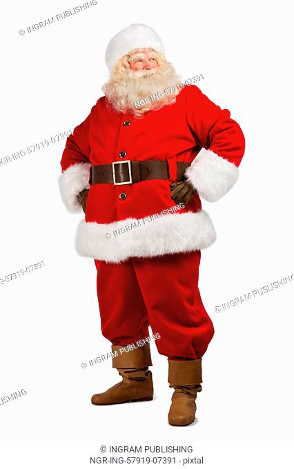 Santa Claus standing isolated on white background - full length portrait